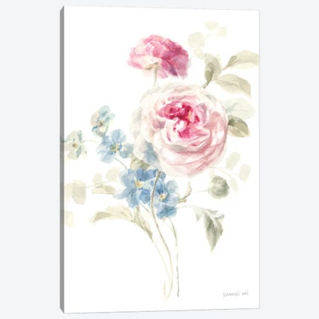 Cottage Garden II on White Canvas Print #NAI47} by Danhui Nai Canvas Print