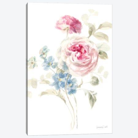 Cottage Garden II on White Canvas Print #NAI47} by Danhui Nai Canvas Print