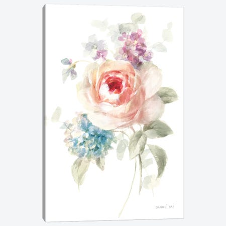 Cottage Garden III on White Canvas Print #NAI48} by Danhui Nai Canvas Art
