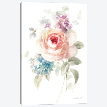 Cottage Garden III on White Canvas Print #NAI48} by Danhui Nai Canvas Art