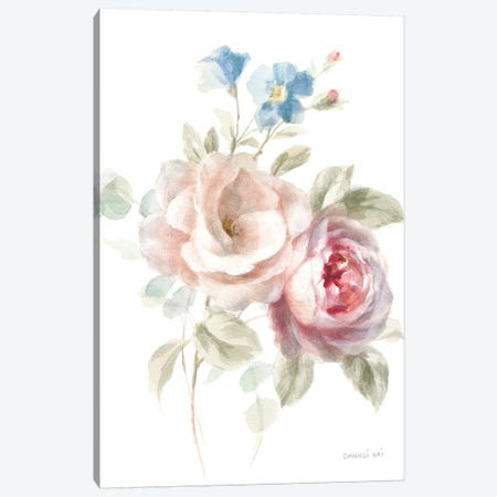 Cottage Garden IV on White Canvas Print #NAI49} by Danhui Nai Canvas Artwork