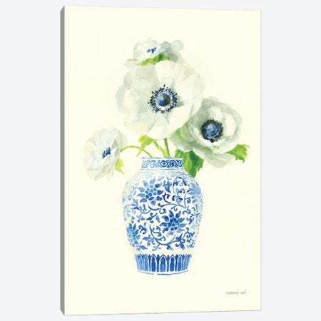 Floral Chinoiserie II Canvas Print #NAI64} by Danhui Nai Art Print