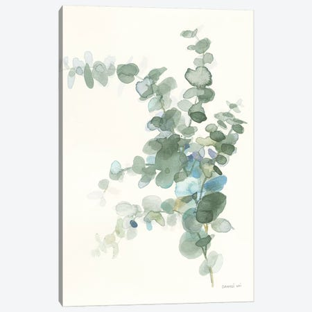 Scented Sprig III Cool Canvas Print #NAI75} by Danhui Nai Canvas Art