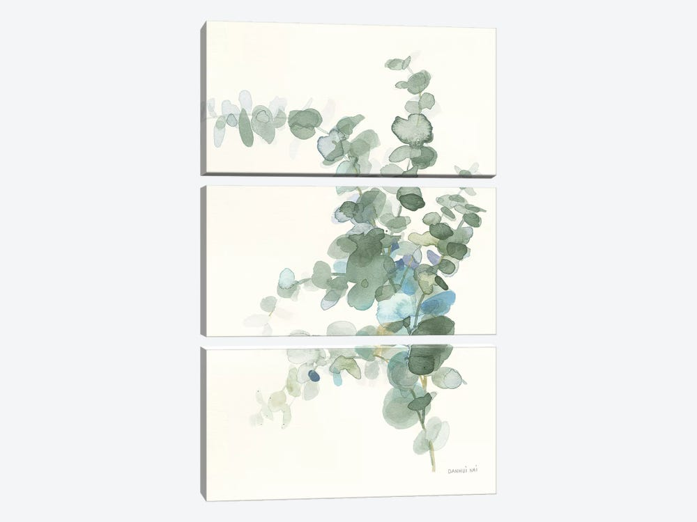 Scented Sprig III Cool by Danhui Nai 3-piece Canvas Print
