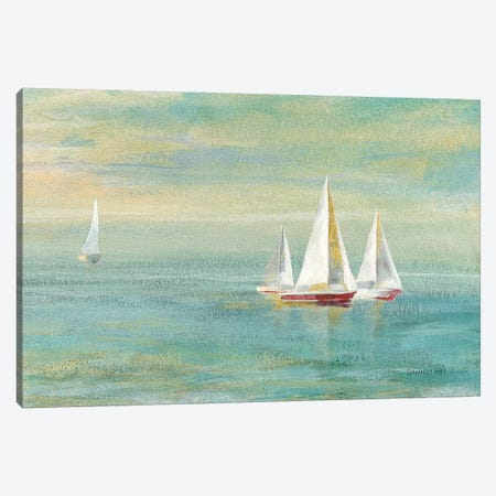 Sunrise Sailboats II Nautical Canvas Print #NAI78} by Danhui Nai Canvas Print