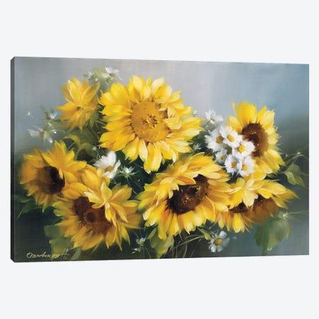 Sunflowers Canvas Print #NAK1} by Natalia Arlouskaya Canvas Art
