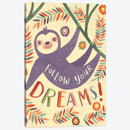 Baby Rainbow Paradise IV Canvas Print #NAM4} by Natalie Miles Art Print