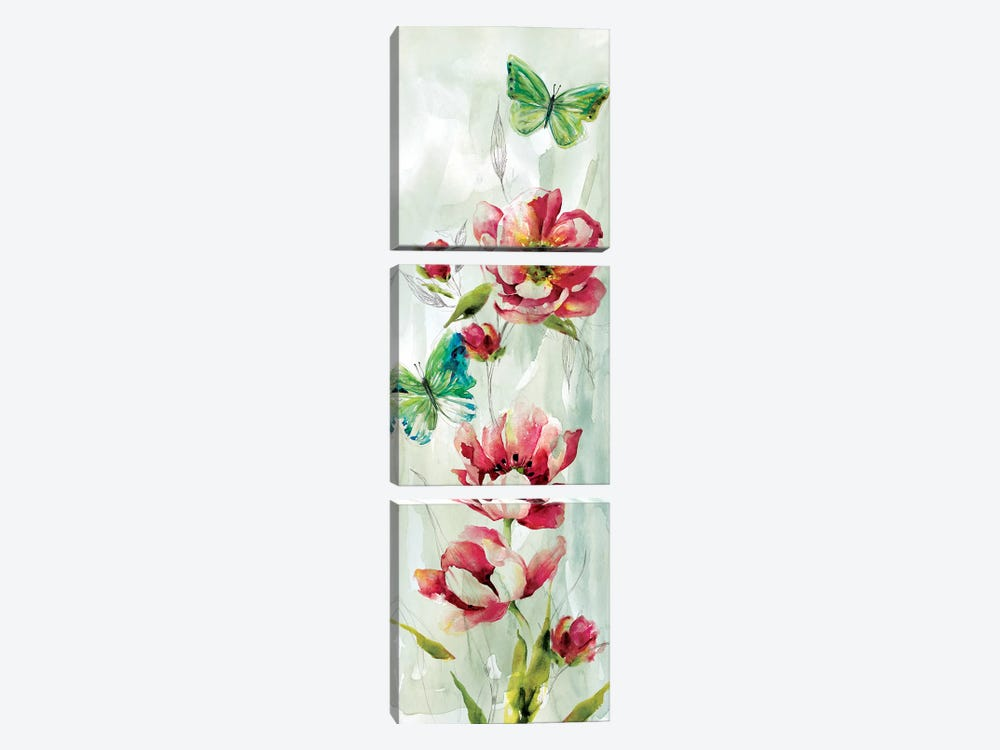 Butterfly Welcome I by Nan 3-piece Canvas Art