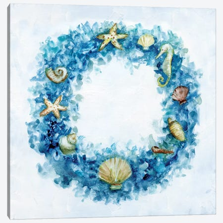 Coastal Wreath Canvas Print #NAN104} by Nan Canvas Artwork
