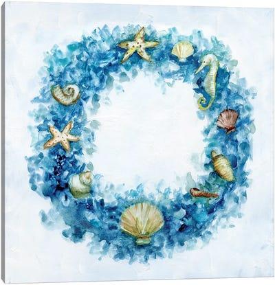 Coastal Wreath Canvas Art Print
