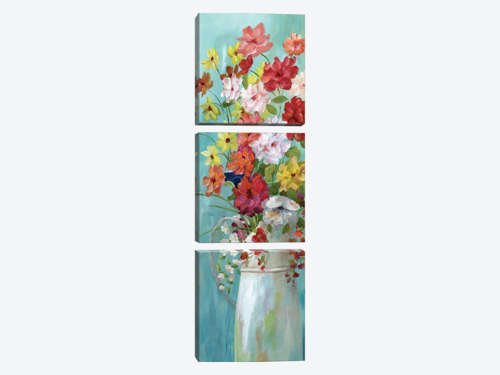 Country Bouquet I by Nan 3-piece Canvas Wall Art