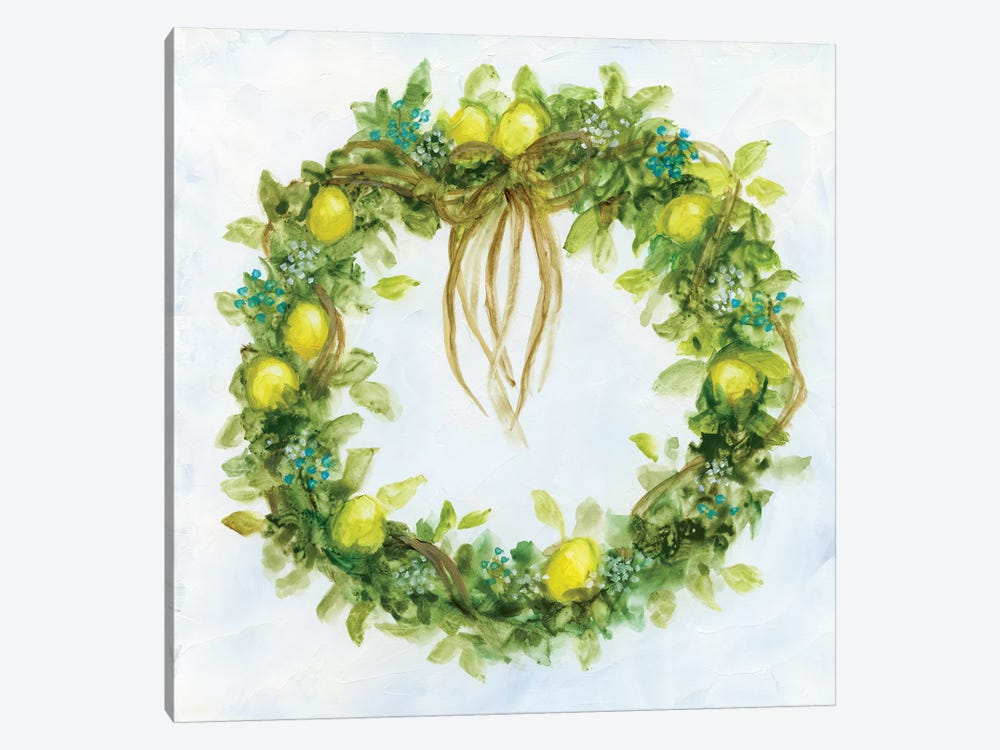 Fresh Lemon Wreath by Nan 1-piece Canvas Art Print