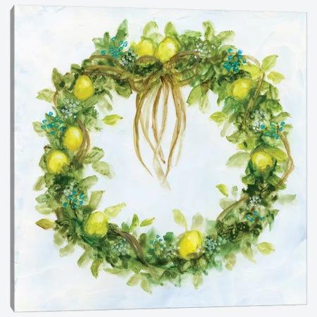 Fresh Lemon Wreath Canvas Print #NAN111} by Nan Canvas Artwork