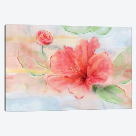 Hibiscus Canvas Print #NAN116} by Nan Art Print