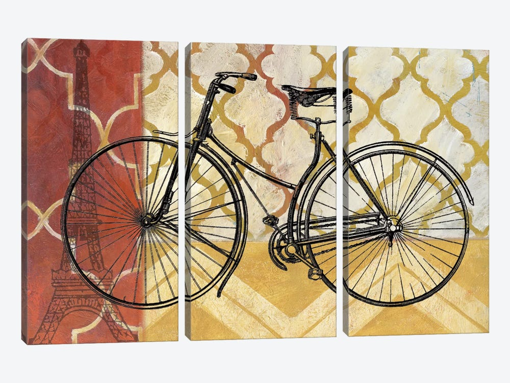 Cyclisme III by Nan 3-piece Canvas Artwork
