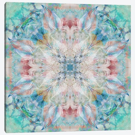 Kaleidoscope Feathers Canvas Print #NAN121} by Nan Canvas Print