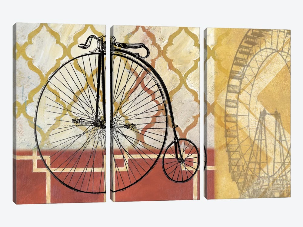 Cyclisme IV by Nan 3-piece Canvas Print