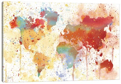 Traveled The World Canvas Art Print