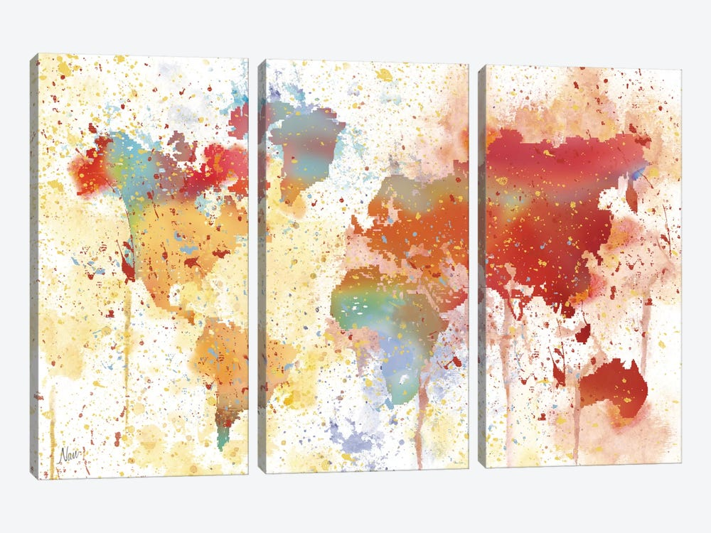 Traveled The World by Nan 3-piece Canvas Artwork
