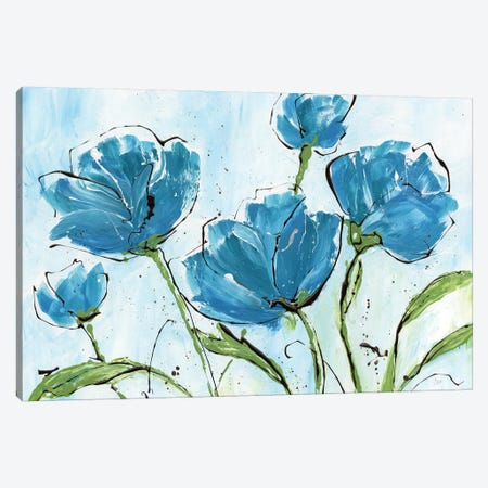 Spring Splash Poppies Canvas Print #NAN153} by Nan Canvas Artwork