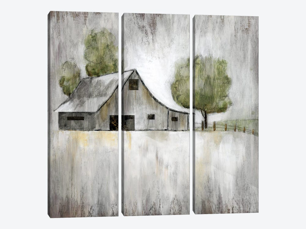 Weathered Barn by Nan 3-piece Canvas Art