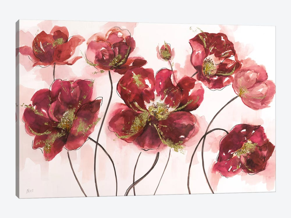 Whispering Poppies by Nan 1-piece Canvas Art Print
