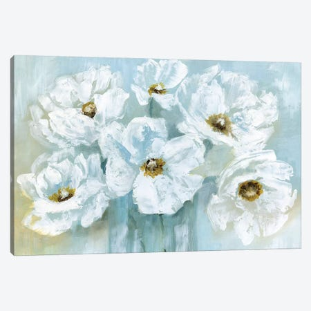 White Poppy Bouquet Canvas Print #NAN160} by Nan Canvas Print