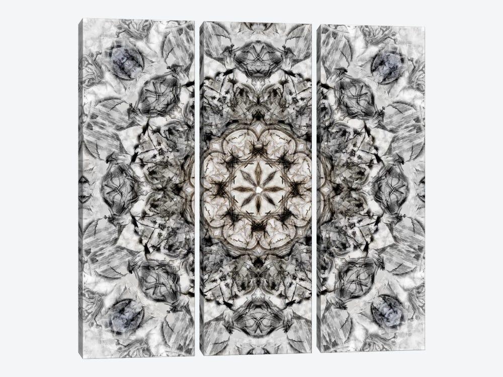 Black White Kaleidoscope I by Nan 3-piece Canvas Print
