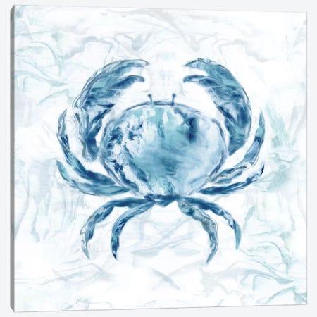 Blue Marble Coast Crab Canvas Print #NAN165} by Nan Canvas Artwork