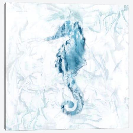 Blue Marble Seahorse Canvas Print #NAN167} by Nan Canvas Art