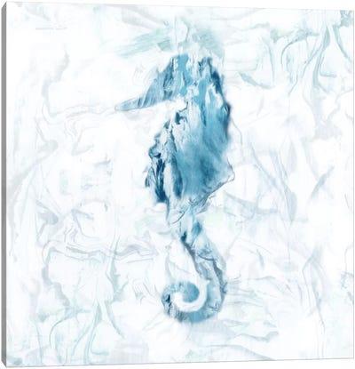 Blue Marble Seahorse Canvas Art Print