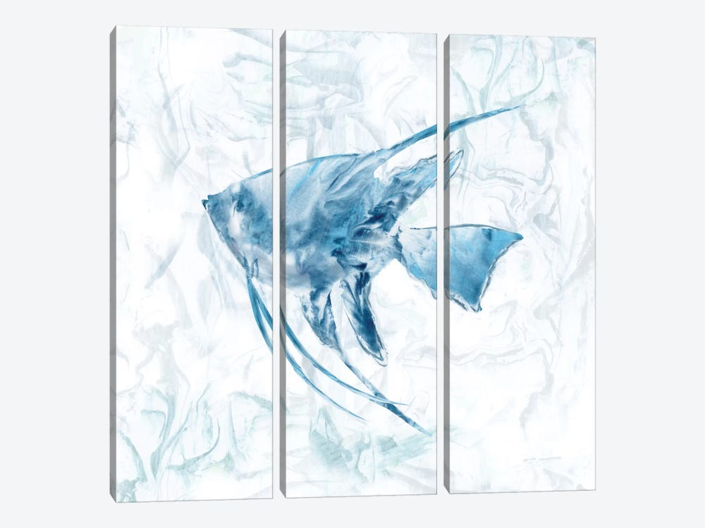 Blue Marble Tropical Fish 3-piece Art Print