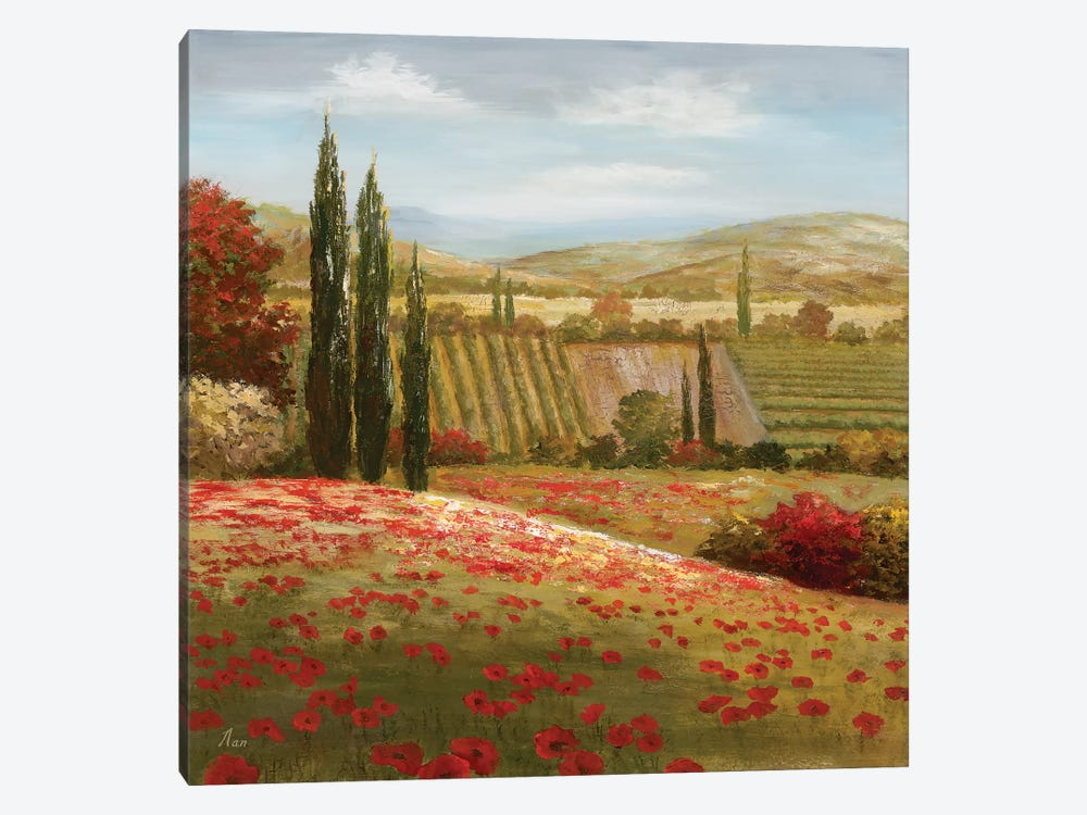 Tuscan Cypress I 1-piece Canvas Print