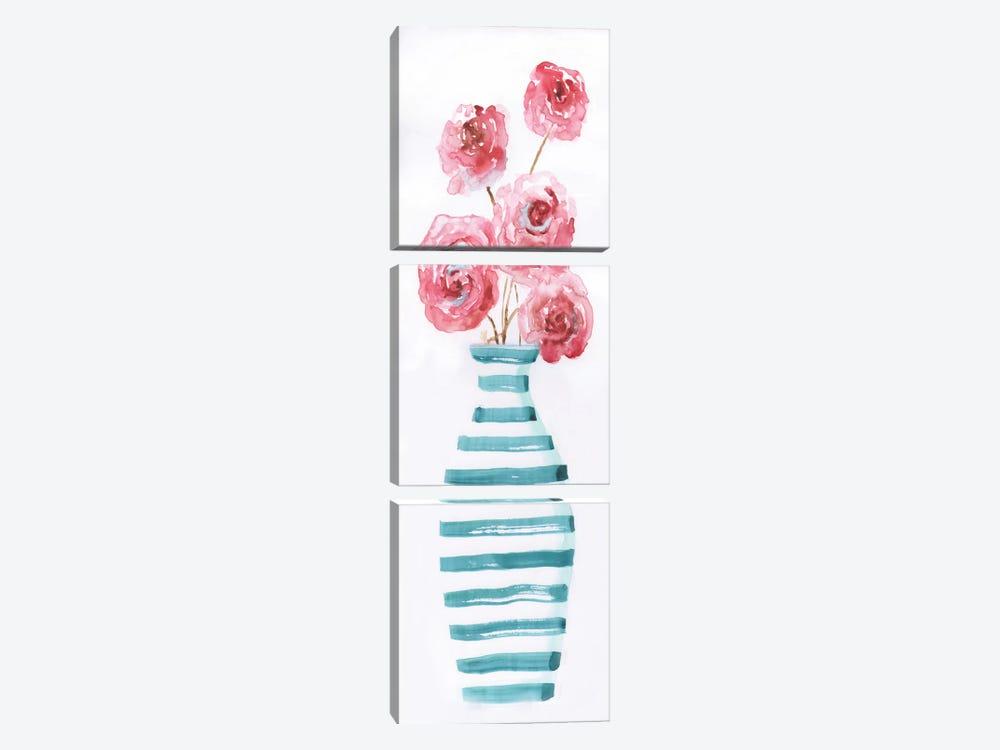 Flower Fun I by Nan 3-piece Canvas Artwork