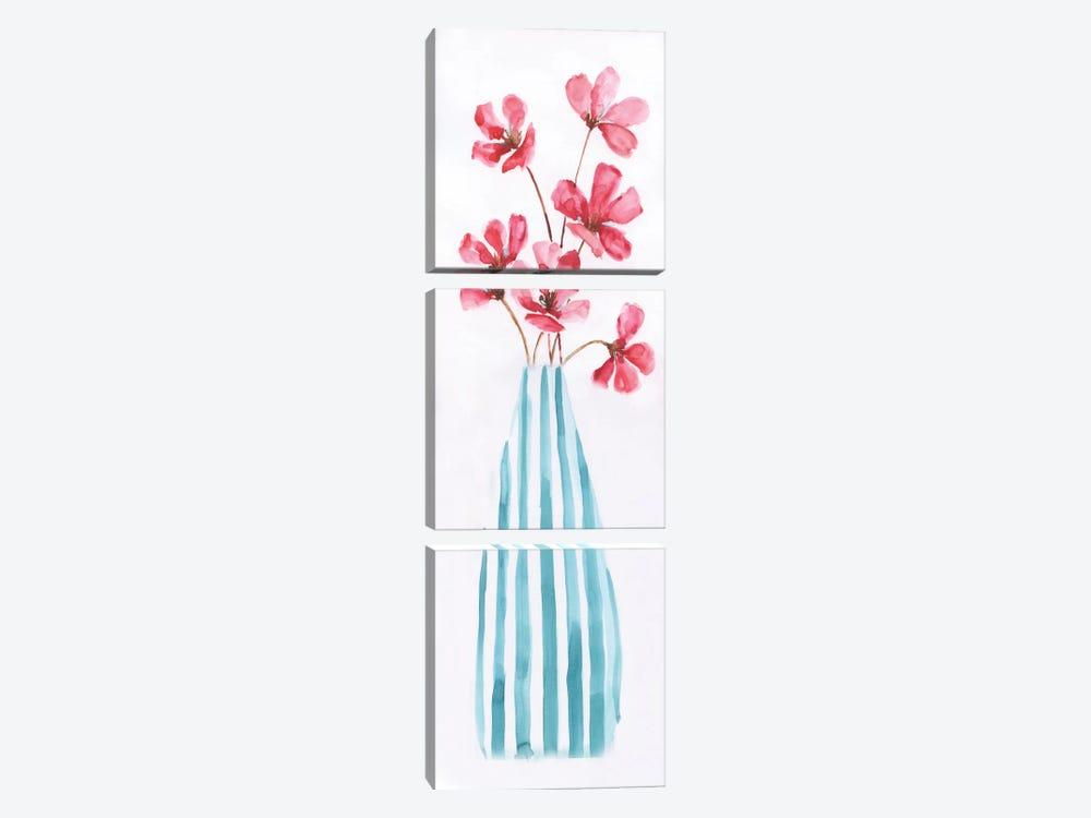 Flower Fun II by Nan 3-piece Canvas Art Print