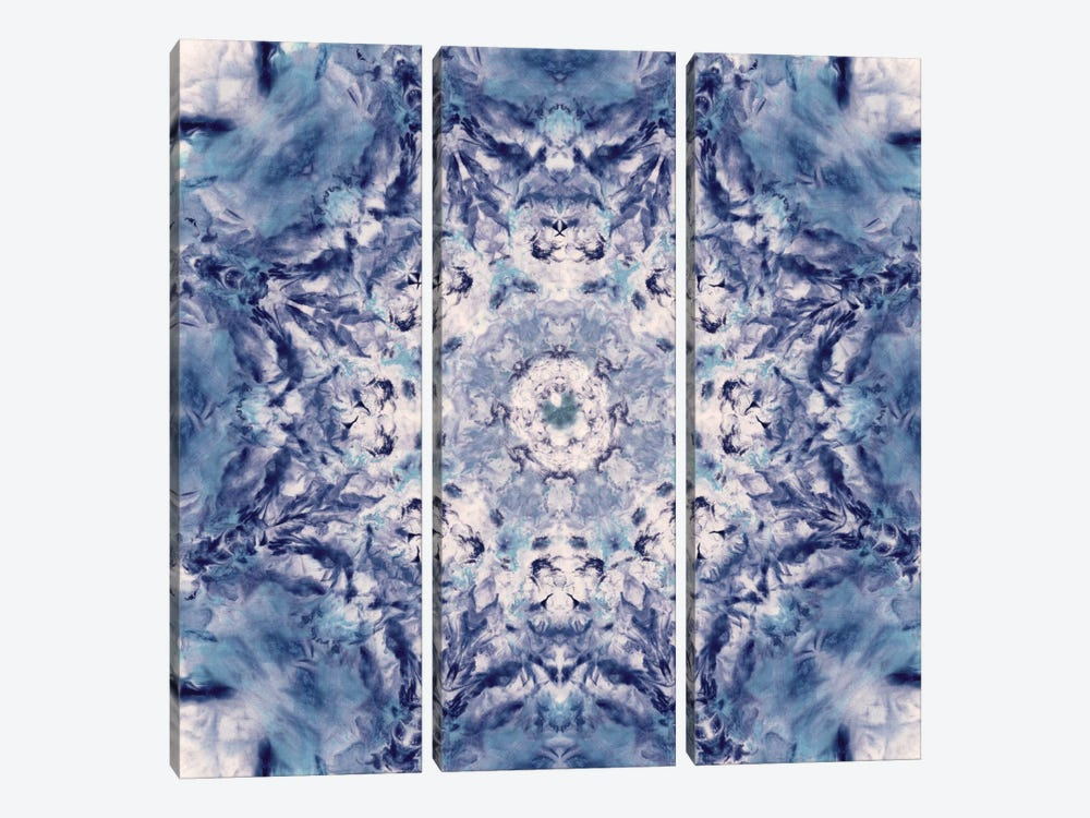 Indigo Gem Kaleidoscope I by Nan 3-piece Canvas Artwork