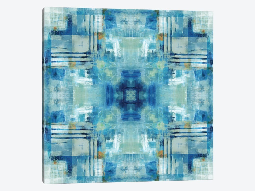 Kaleidoscope Blue Tie-Dye by Nan 1-piece Art Print