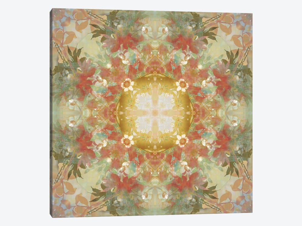 Kaleidoscope Floral Gold by Nan 1-piece Art Print