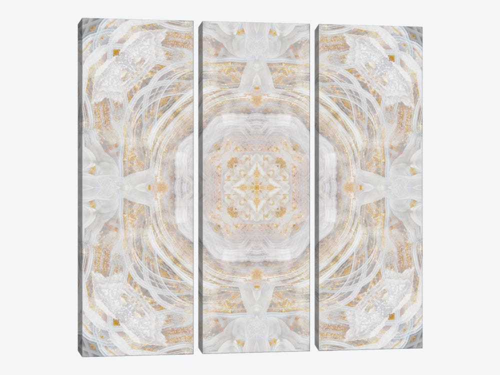 Light Metallic Kaleidoscope I by Nan 3-piece Canvas Art