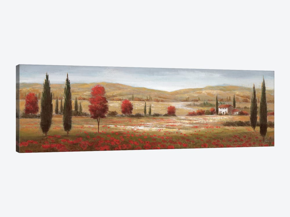 Tuscan Poppies I 1-piece Canvas Art Print