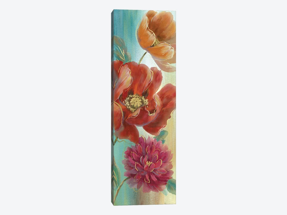 Poppy Panel Red I by Nan 1-piece Canvas Artwork
