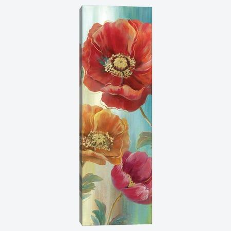 Poppy Panel Red II 3-Piece Canvas #NAN193} by Nan Canvas Wall Art