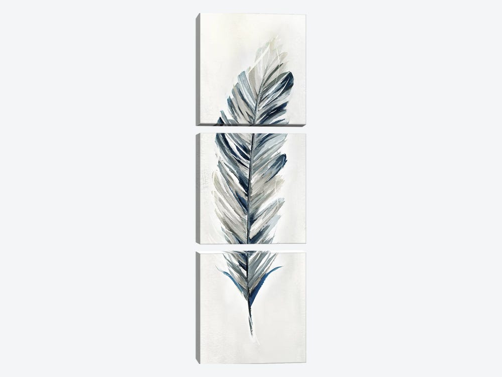 Soft Feather I by Nan 3-piece Canvas Art