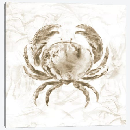 Soft Marble Coast Crab Canvas Print #NAN199} by Nan Canvas Wall Art