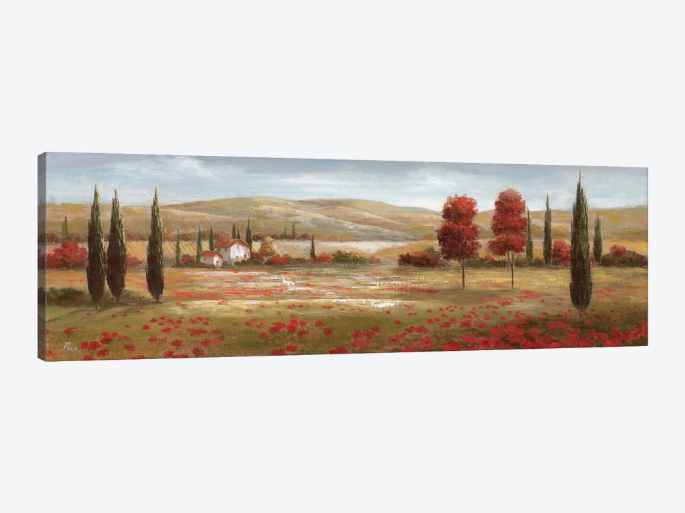 Tuscan Poppies II by Nan 1-piece Canvas Artwork