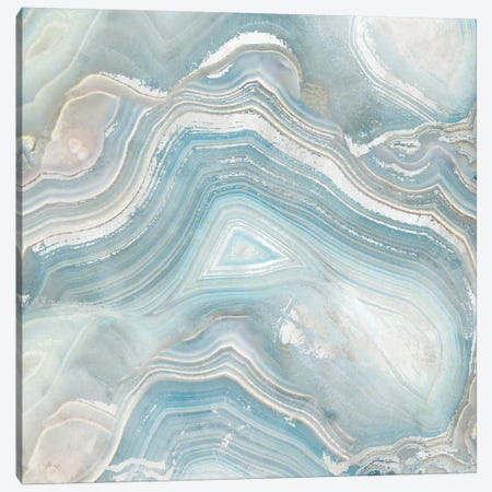 Agate in Blue I Canvas Print #NAN1} by Nan Canvas Art Print
