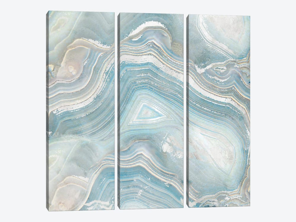 Agate in Blue I by Nan 3-piece Canvas Art