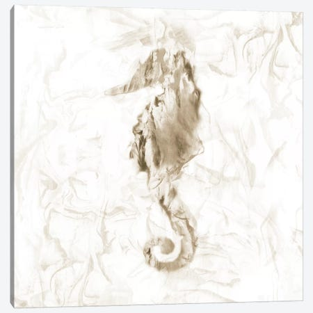 Soft Marble Seahorse Canvas Print #NAN201} by Nan Canvas Wall Art