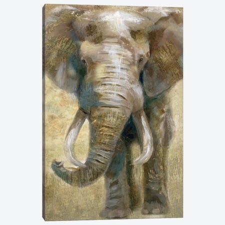 Summer Safari Elephant Canvas Print #NAN203} by Nan Canvas Wall Art