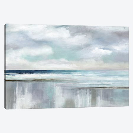 Cyan Sunrise Canvas Print #NAN216} by Nan Canvas Art